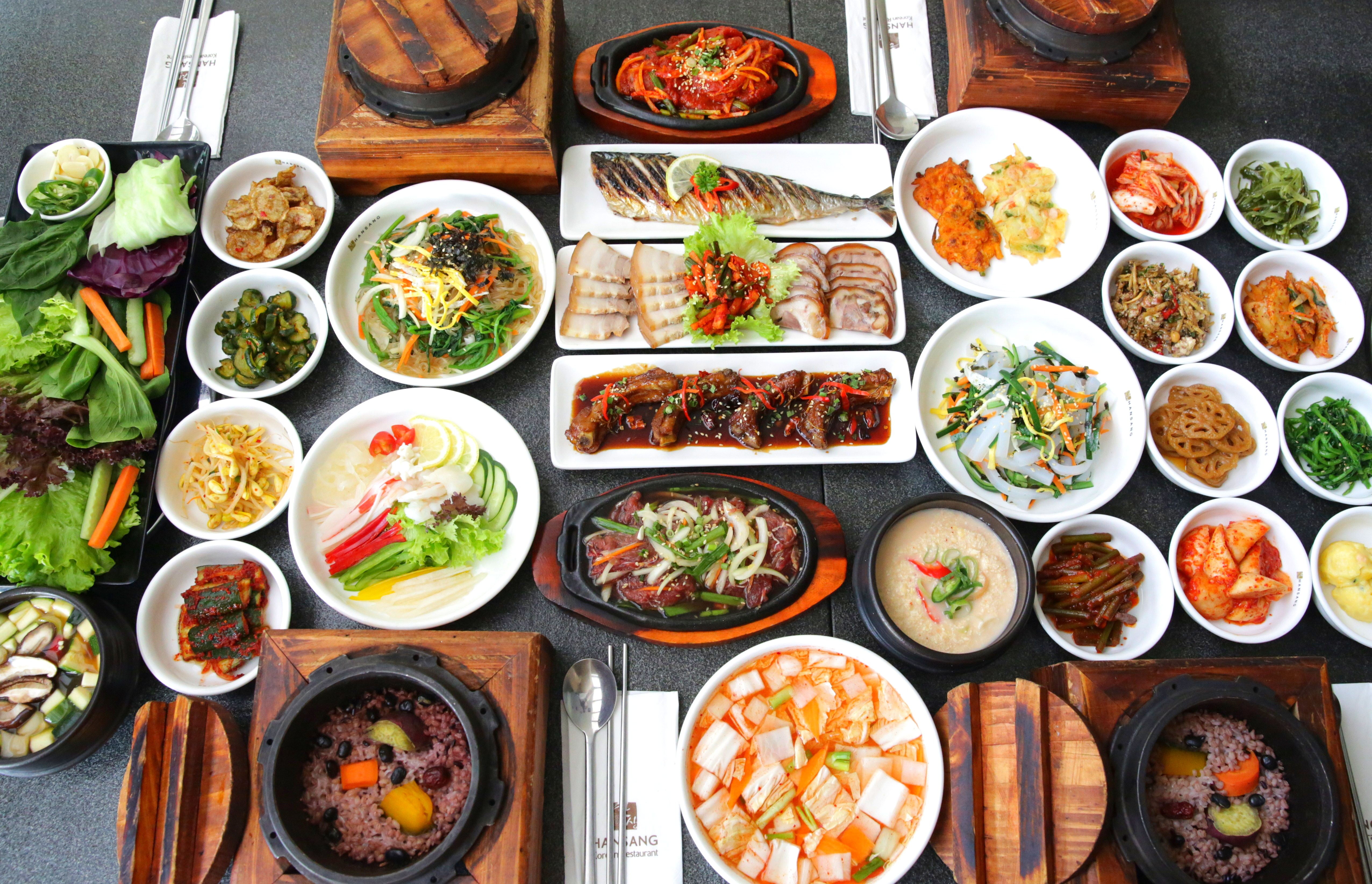 K food mid autumn special hansang korean restaurant for Authentic korean cuisine
